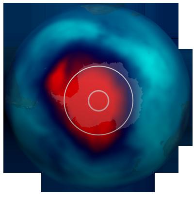 Ozone Hole Comparison Graphic