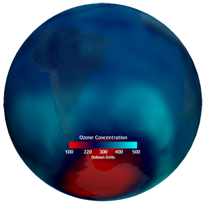 real-time Ozone dataset graphic