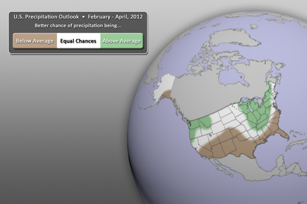 U.S. Precipitation Outlook FMA 2012