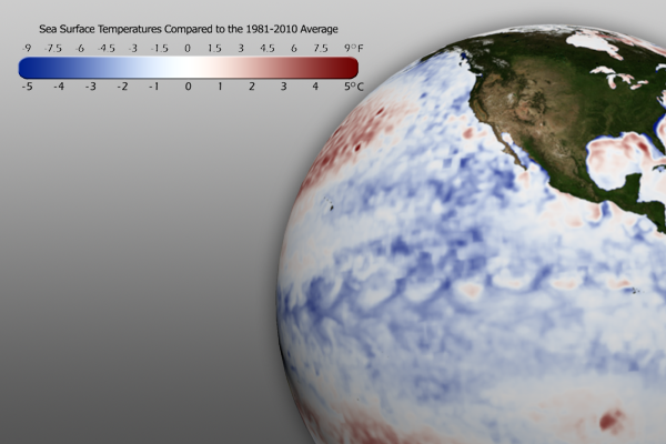Sea Surface Temperature Anomaly Graphic - December 2011