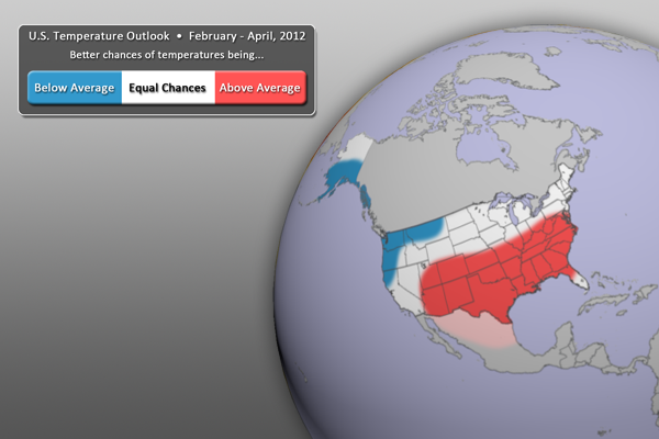 U.S. Temperature Outlook - FMA 2012