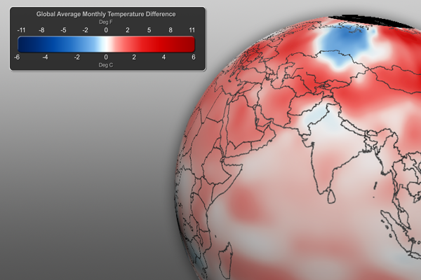 Global Temperature Anomaly Graphic - December 2011