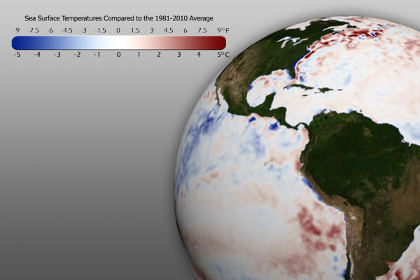 February SST Anomaly Graphic