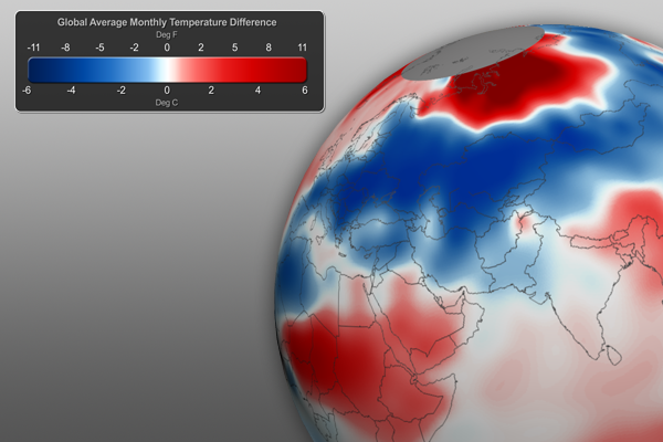 Monthly Global Temperature Anomaly Graphic
