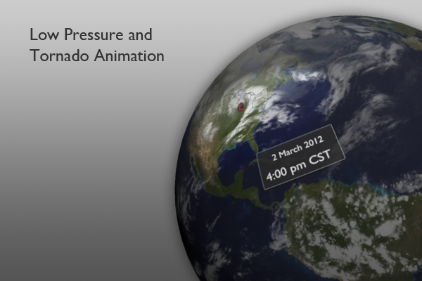 Low Pressure and Tornado Animation Graphic