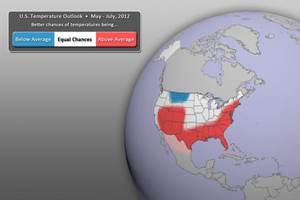 U.S. Temperature Outlook Graphic