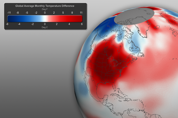 March 2012 Global Temperature Graphic