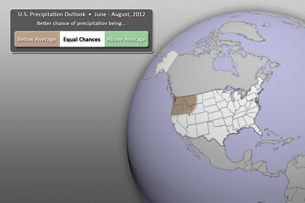 U.S. Precipitation Outlook (June - August 2012)