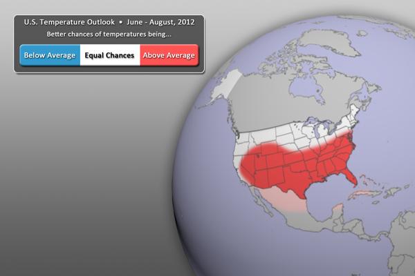 U.S. Temperature Outlook (June - August 2012)