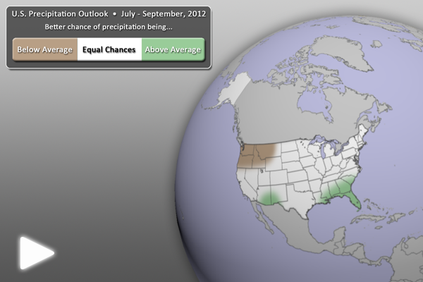 U.S. Precipitation Outlook (July - September 2012)