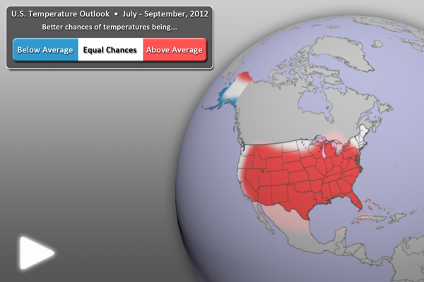 U.S. Temperature Outlook (July - September 2012)