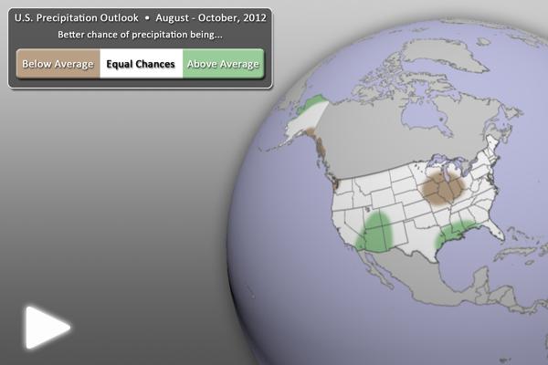 U.S. Precipitation Outlook (August-October 2012)
