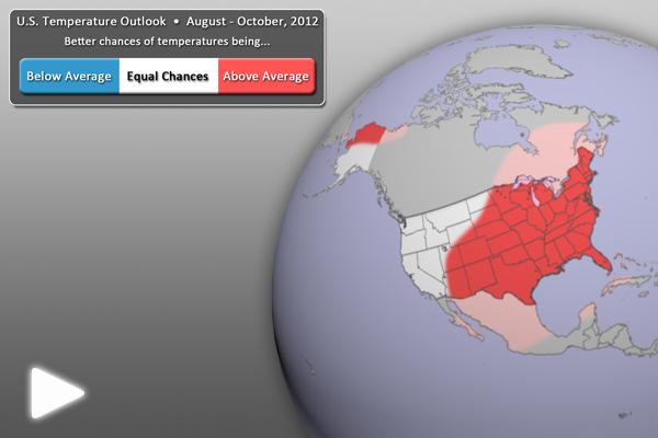 U.S. Temperature Outlook (August-October 2012)