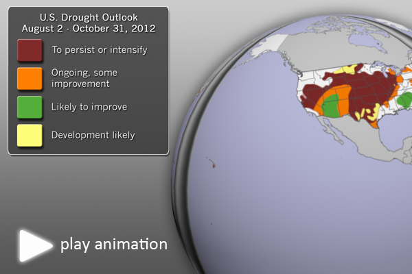 U.S. Drought Outlook (August-October, 2012)