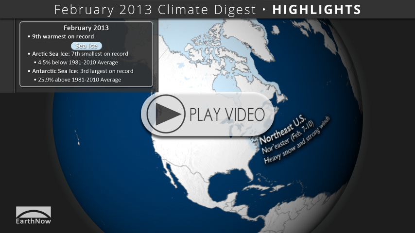 February 2013 Climate Digest Video